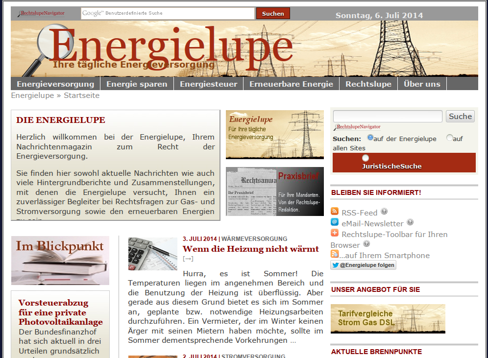 Energiewende im Netz