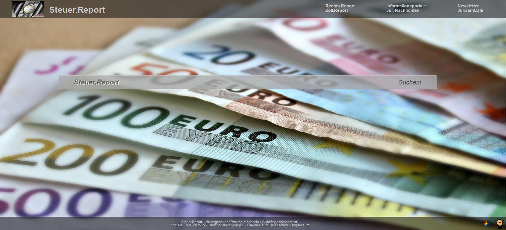 Steuer.Report – Informationen zu Ihren Steuern!