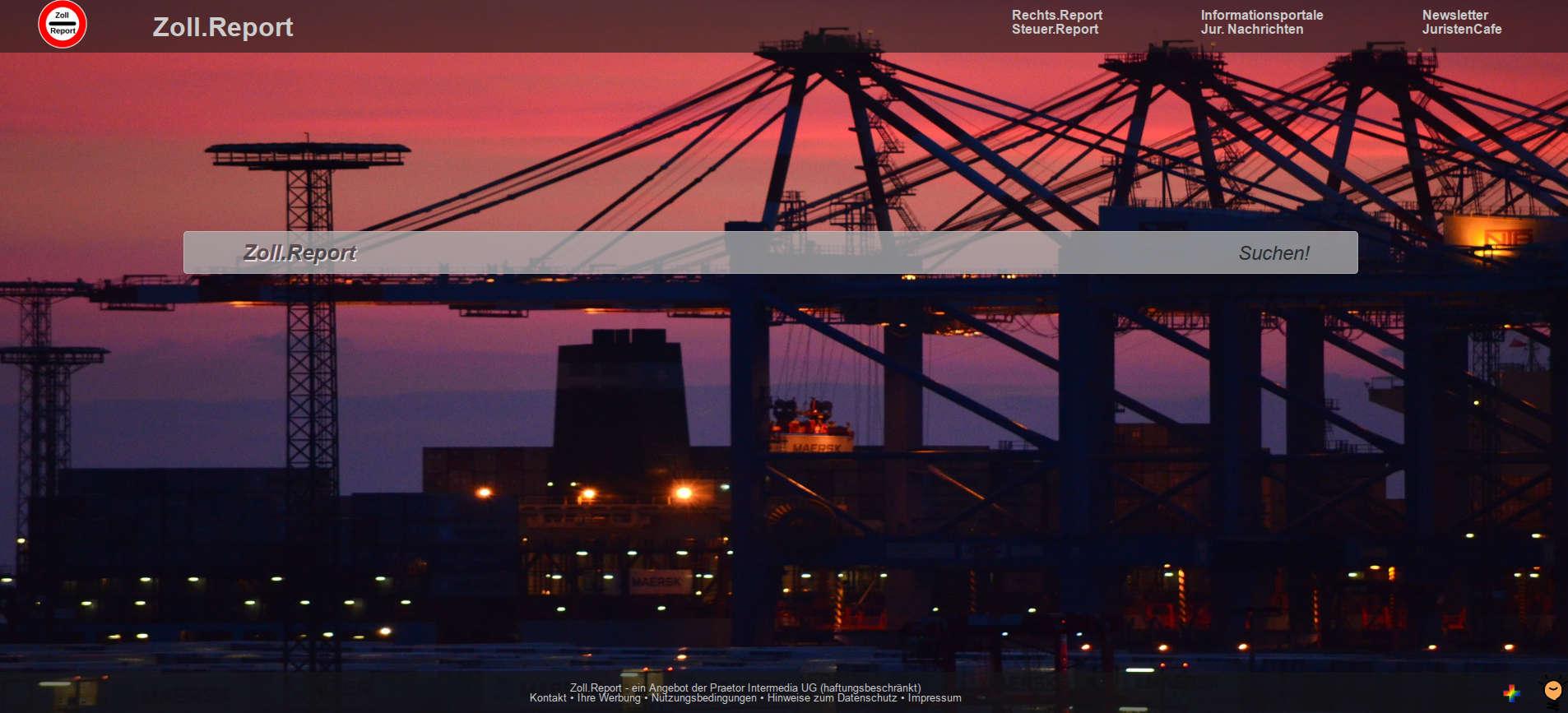Zoll.Report – das Suchportal für die Außenwirtschaft