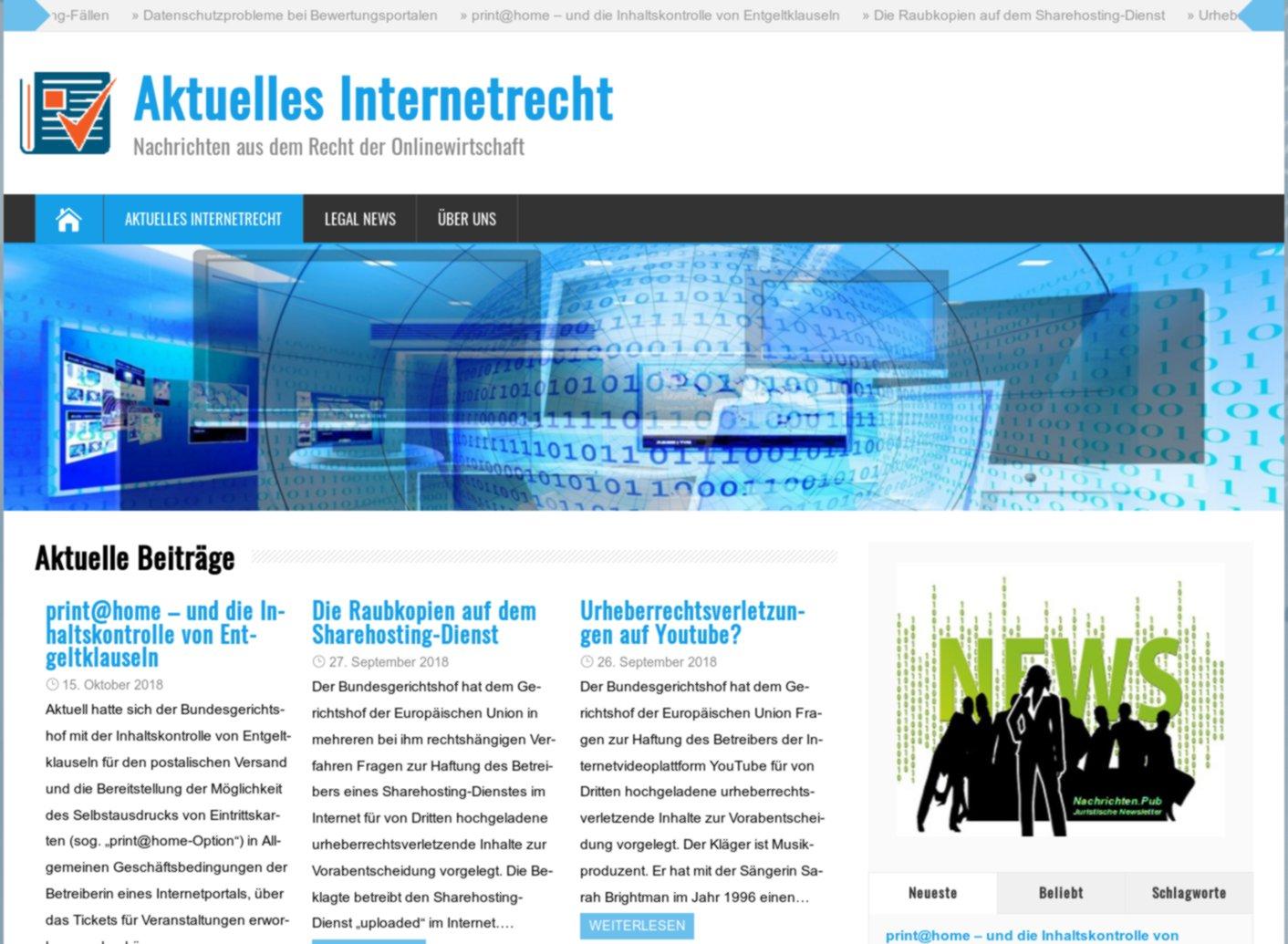 """""""Aktuelles Internetrecht"""""""