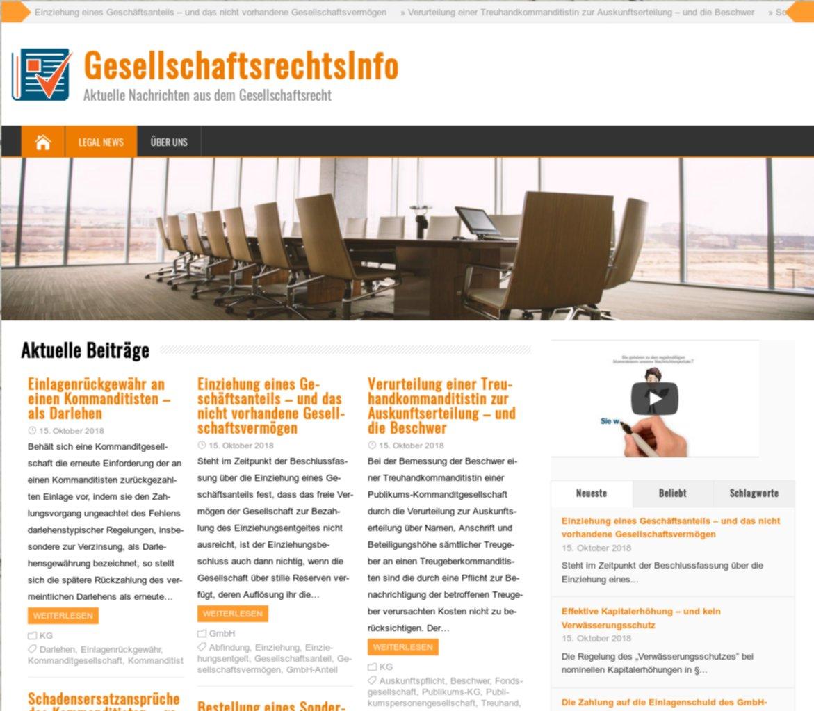 """""""GesellschaftsrechtsInfo"""""""
